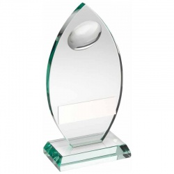 Jade Glass Rugby Plaque TD444