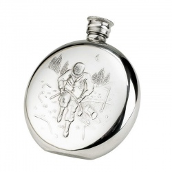 Pewter Golf Flask - Angry Golfer