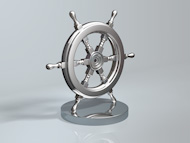 Bespoke Metal Boat Wheel Award Trophy