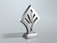Bespoke Metal Leaf Award Trophy