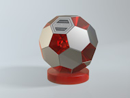 Bespoke Perspex & Metal Football Award Trophy