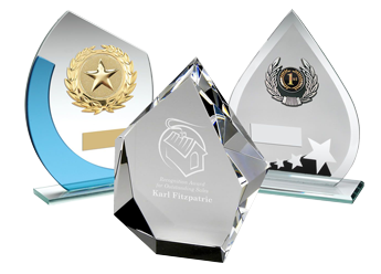 Glass Awards Plaques