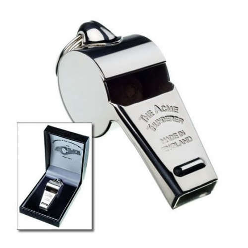 60mm Silver Acme Thunderer Whistle