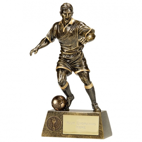 Engraved Footballer Figure Trophy A1090