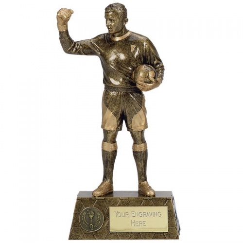 Football Goalkeeper Figure Trophy 8.75in Tall