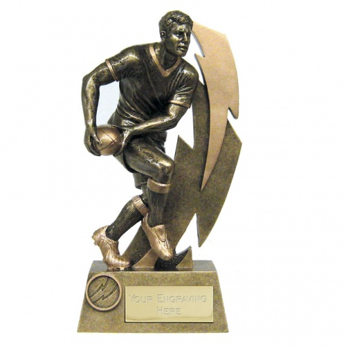 Rugby Player Lightening Flash Trophy