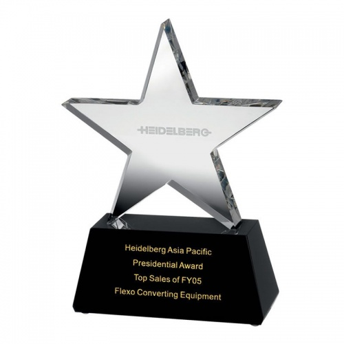 Clear Glass Star Award AC87