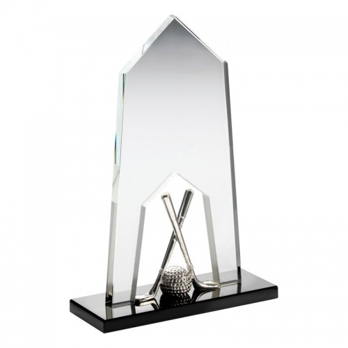 Glass Golf Plaque Award CBG12