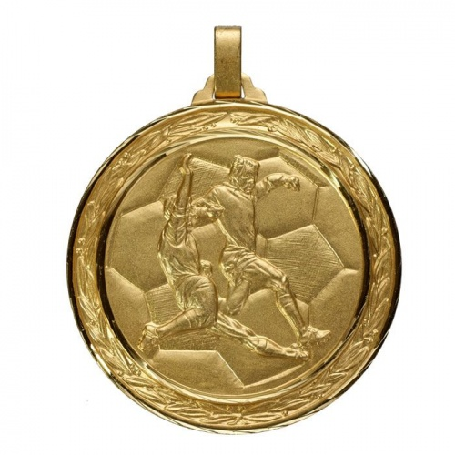 60mm Gold Football Medal