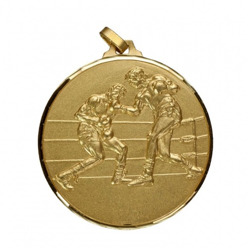 52mm Gold Boxing Medal