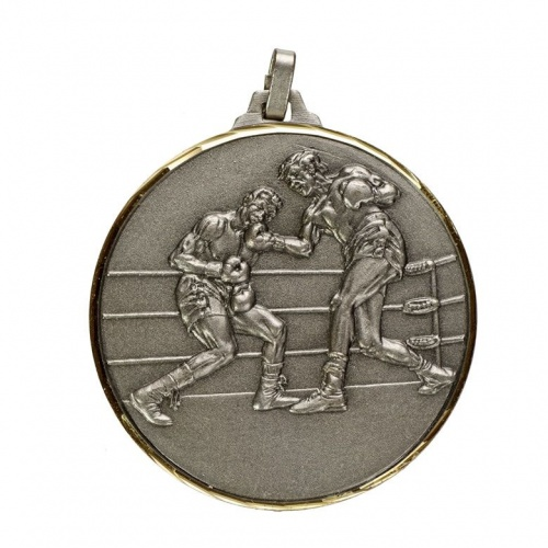 52mm Silver Boxing Medal