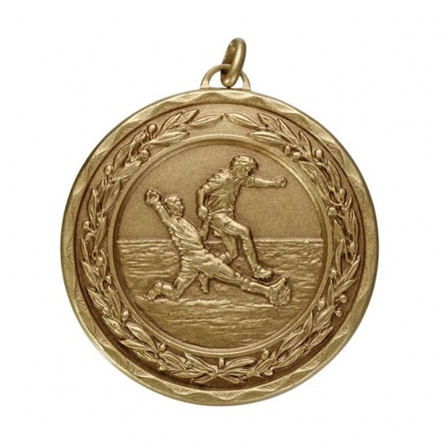 50mm Bronze Football Medal