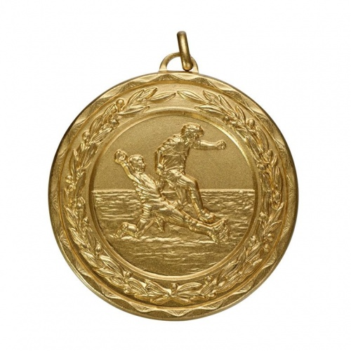 50mm Gold Football Medal