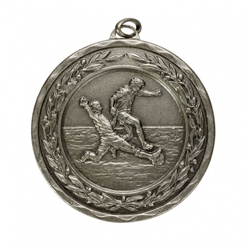 50mm Silver Football Medal