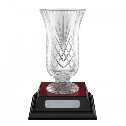 8in Lead Crystal Awards Vase - Fuji