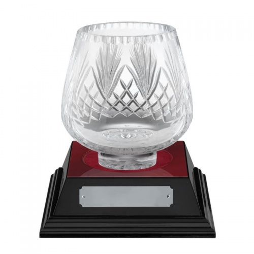 6in Lead Crystal Presentation Bowl - Moai