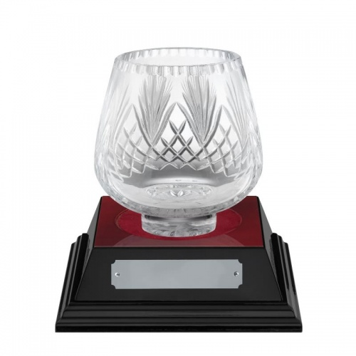 5in Lead Crystal Presentation Bowl - Moai