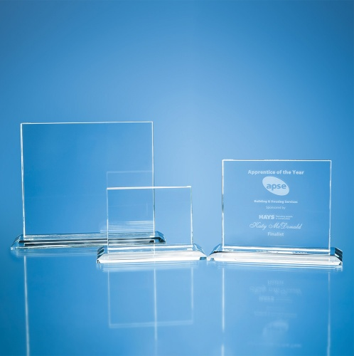 Clear Glass 12mm Horizontal Rectangle Award