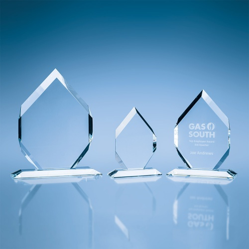 Clear Glass 15mm Majestic Diamond Award