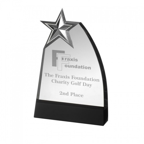 Glass Plaque Star Award GLC009B