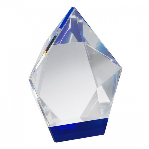 Clear & Blue Crystal Diamond Award GLC010