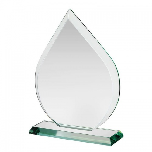 Jade Glass Teardrop Award HC011