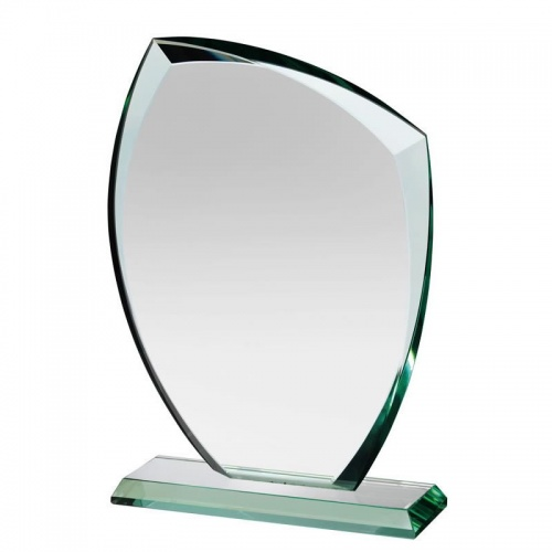 10.25in Jade Glass Autumn Leaf Award