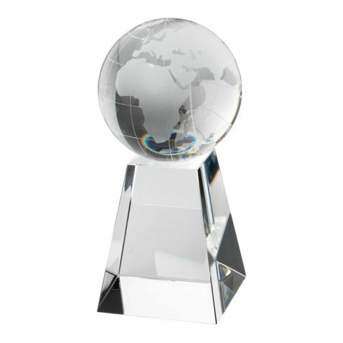 6.5in Clear Glass Globe On Base