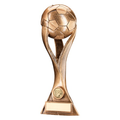 9.75in Resin Bronze/Gold Football Trophy