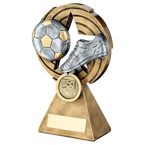 Resin Silver & Gold Football Trophy RF119