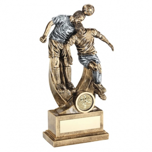 Football Figure Trophy - Aerial Dual