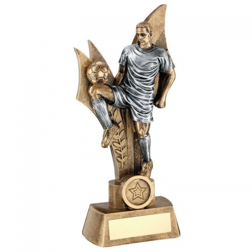 Male Footballer Figure Trophy - Off The Knee