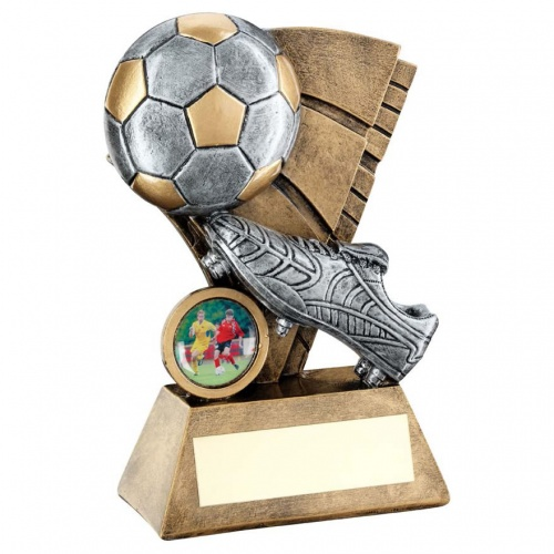 Resin Football Scene Trophy RF197
