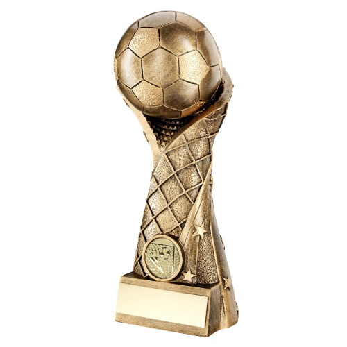 Resin Bronze & Gold Football Trophy RF274