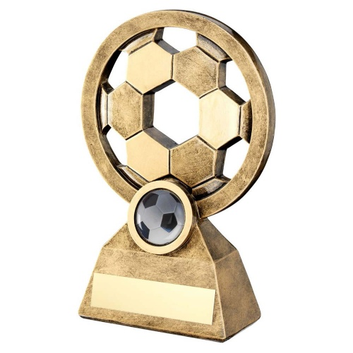 Resin Bronze & Gold Pierced Football Trophy