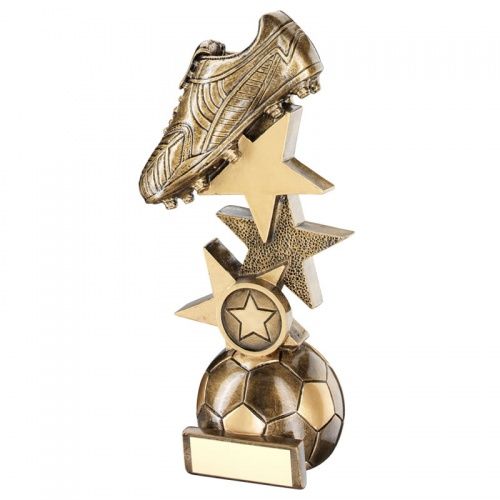 9in Resin Bronze Football Boot