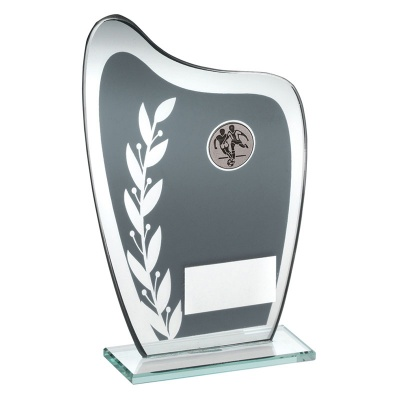 Football Glass Shield Award TD929