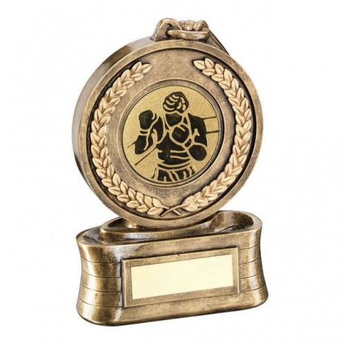 Boxing Medal Trophy with Insert