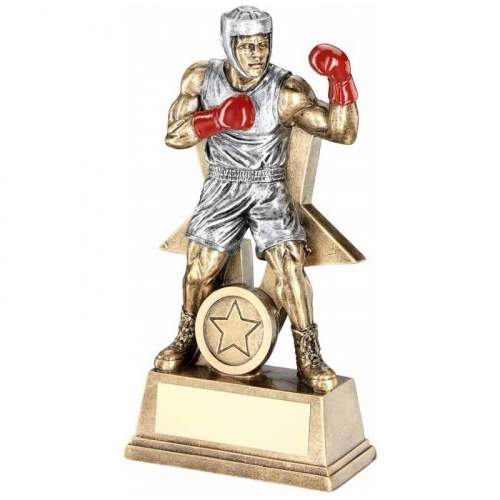 9in Resin Boxer Figure Trophy