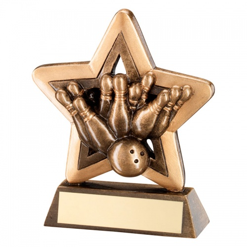 Cheap Tenpin Bowling Mini Star Trophy