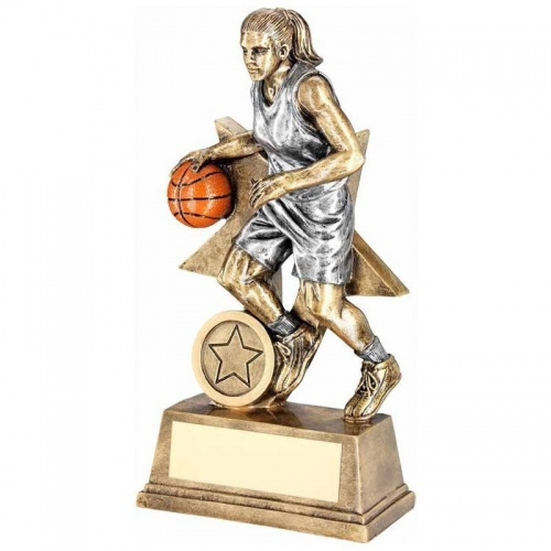 7in Female Basketball Trophy RF179