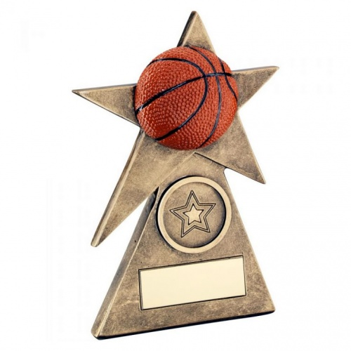 Basketball Star on Pyramid Trophy