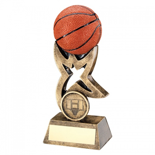 5.5in Basketball Award With 3D Ball