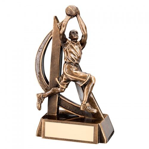 7in Male Basketball Figure Trophy