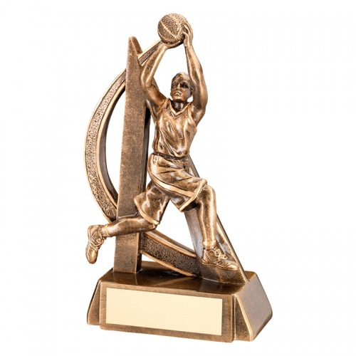 7in Female Basketball Figure Trophy