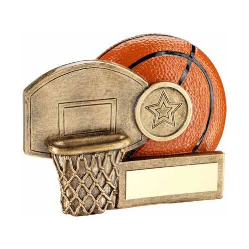 4.25in Resin Basketball Scene Award