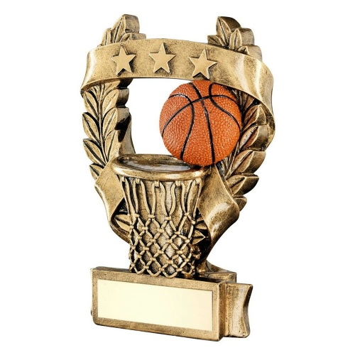 Basketball Three Star Laurel Wreath Trophy