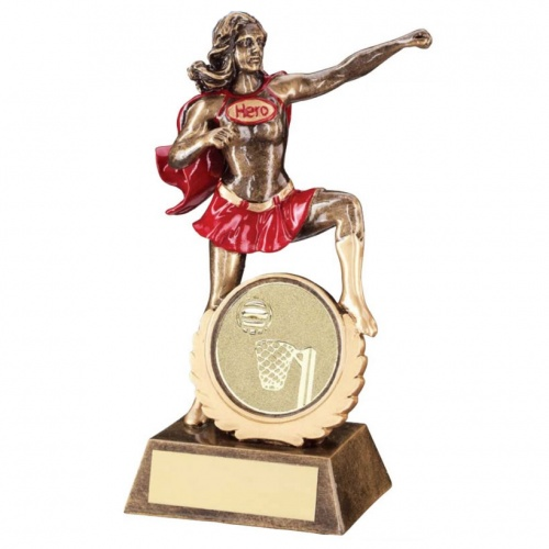 Resin Netball Superhero Trophy