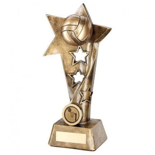 Resin Netball Star Column Trophy