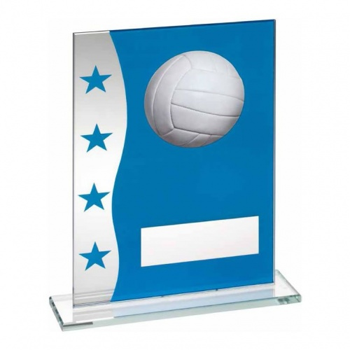 8in Netball Glass Plaque TD647